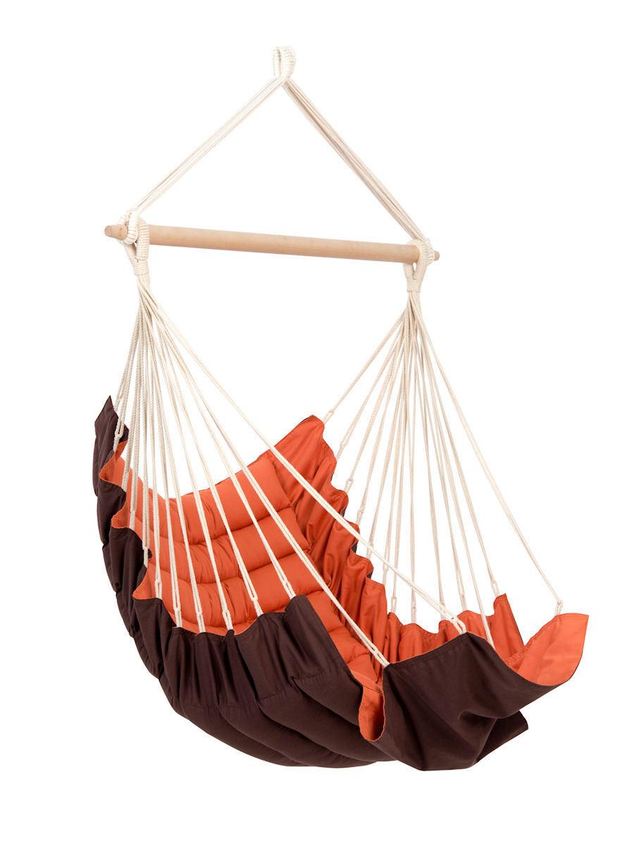 Amazonas Hängesessel California Hängestuhl Hängesitz California Hängesessel Terracotta mit/ohne Gestell 81ce5a