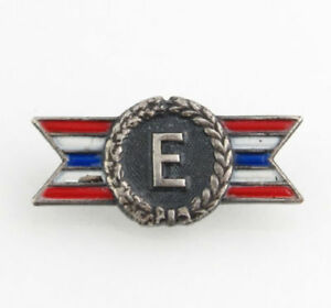 for-Efficiency-Award-Pin-Vintage-WWII-Navy-Sterling-Silver-Collectible-Badge