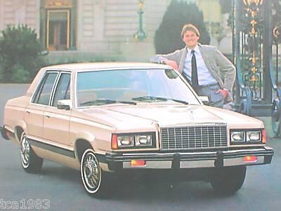 1981 Ford Granada Broschüre/broschüre: Glx L 2/4 Door SchöN Und Charmant Gl