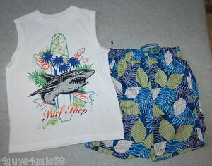 S 8 Xs da Swim Muscle Trunks Ocean Tee 4 Pacific surf 6 Shark Tavola M 7 5 Ragazzi qOTHBwcO