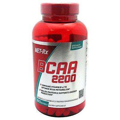 Met Rx BCAA 2200 Amino Acid, 180 softgels, Leucine Dietary Supplement