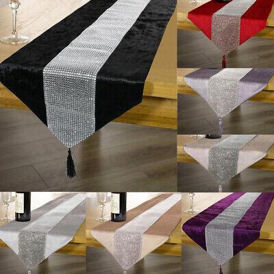 Neueste Kollektion Von 31x183cm Tischläufer Tischband Diamante Samt Satin Quaste Tischdeko Dekoband