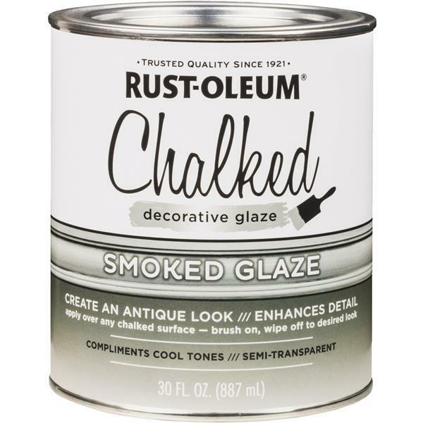2 Pk Rust-Oleum Chalked 30 Oz Semi-Transparent Smoked Decorative Glaze 315883