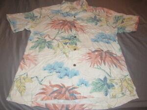 Bahama Tommy hombre tamaño agradable hawaiano de tamaño seda para grande 1wwgT