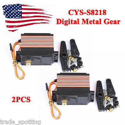 2x CYS-S8218 Digital Metal Gear 40KG High Torque Servo 0.18s 38kg 1:5 RC Car US