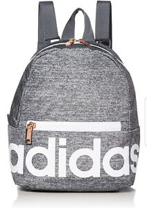 Details about Adidas Linear Mini Backpack, Jersey Onix/White/Rose Gold, One Size