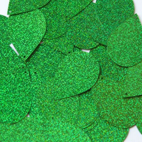"Sequin rdrop 1.5"" Green Sparkle Glitter Metallic. Made in USA"