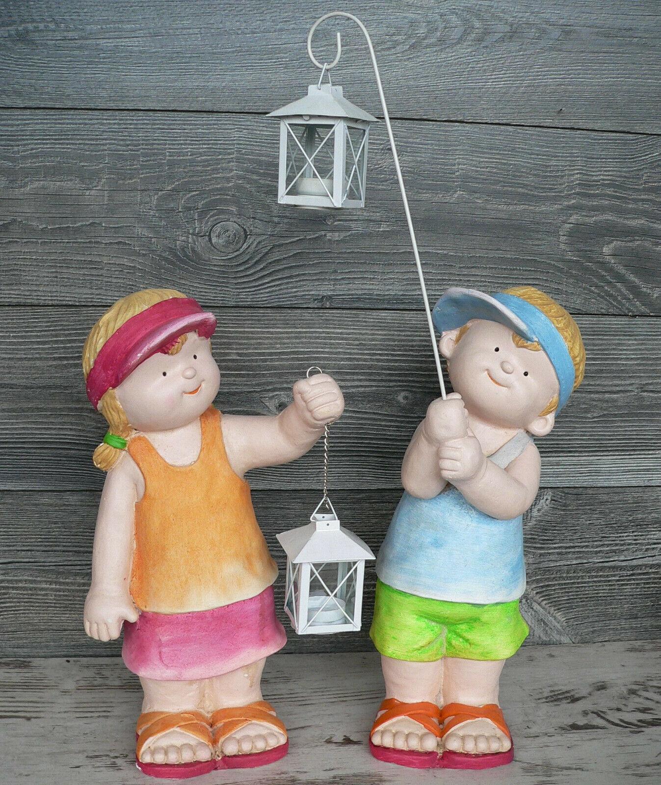 Keramik 19 cm Winter Kind Junge Puppe mit LED Laterne Schaufenster Deko 70421