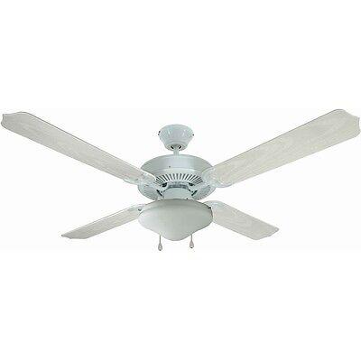 White 52 Quot Hugger Ceiling Fan W Light Kit 12 6977