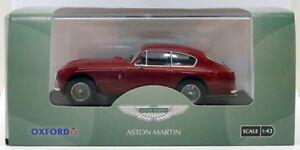 Oxford-Diecast-Escala-1-43-amdb-2003-Aston-Martin-DB2-MKIII-Berlina-Peonia-Rojo