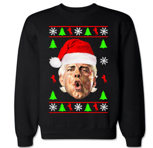 Woolidays Ugly Christmas Ric Flair Humor Pro Wrestling Funny Crew