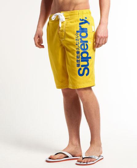 Neue Herren Superdry  Superdry Boardshorts Marine Yellow