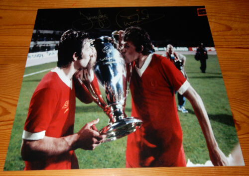 Liverpool 1977 European Cup Winners Phil Neal and Jimmy Case SIGNED Photo