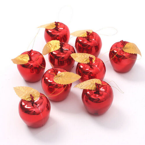 Christmas Tree Xmas Apple Decorations Baubles Party Wedding Ornament 12 pcs ME