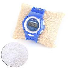 1pc Beige Display Earring Holder Small Linen Pillow Watch Bracelet For Jewelry