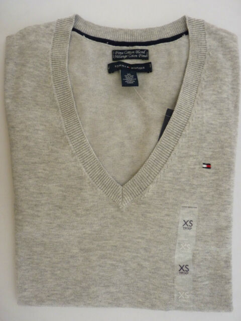 NWT Tommy Hilfiger Solid V-Neck Multi-Color Sweater For Women XS S M L XL