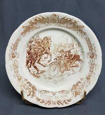 FAIENCE DE CASTRES ASSIETTE XII GUERRE DE 1914  LE MOTOCYCLISTE   WW1 1418