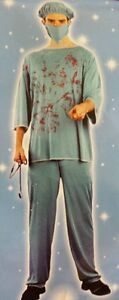 Halloween-Sangriento-surgeon-doctor-Adulto-Fancy-Dress-costume-outfit-Nuevo