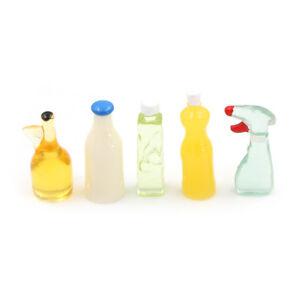 Dollhouse-Miniature-1-12-Toy-5-Pieces-Plastic-Kitchen-Bottles-Height-3cm-hbPTH
