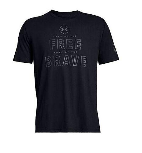 Under armour 13275560013XL UA Freedom Free Brave Mens Black 3XL S//S T-Shirt