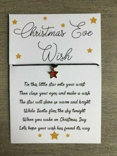 Gifts Stocking Fillers Christmas Eve Wish Bracelet Christmas Eve Box Filler