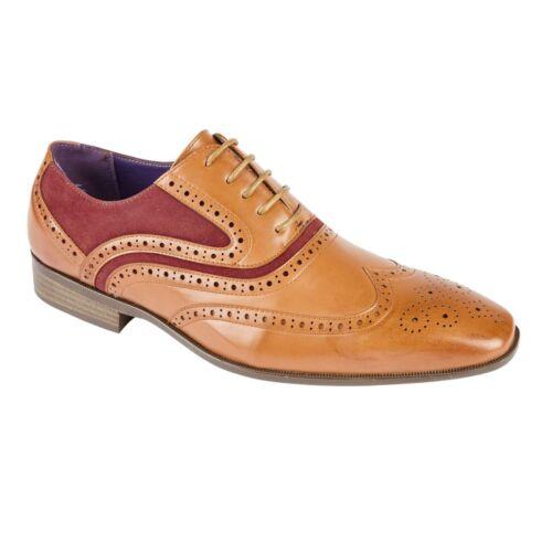 Brogue Oxford con Cordones para Hombre De Cuero Forrados Formal Zapatos Talla Uk 6 7 8 9 10 11 12