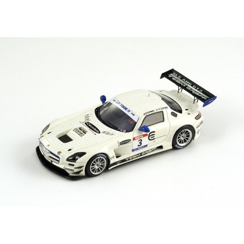 SPARK Mercedes SLS GT3 Graff  3 GT Tour 2011 Debard - Panis SF021 1 43