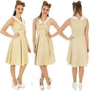 Lunares-Vestido-Marinero-Nautico-por-Dolly-amp-Dotty-Sally-anos-50-Rockabilly-Talla-8
