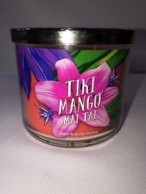 Bath /& Body Works TIKI MANGO MAI TAI 3 Wick Candle 14.5oz