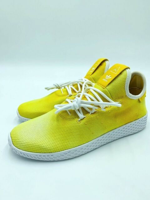 481b6694d640d NWT Adidas Mens PW HU HOLI Tennis Pharrell Williams Yellow White DA9617  Size 8
