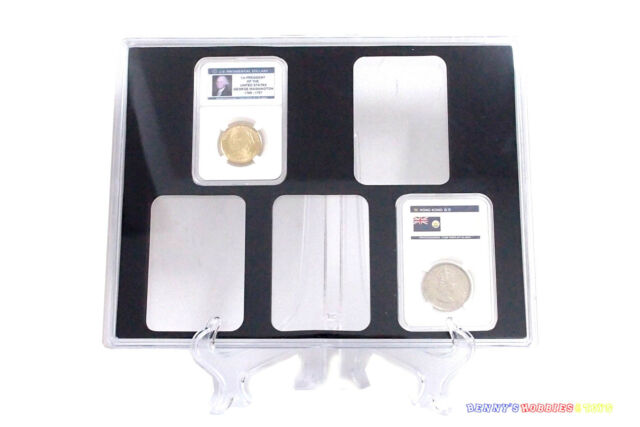 1 x New Storage Display Box Showcase Frame Wall Hang Black For 6 PCGS Coin Slabs