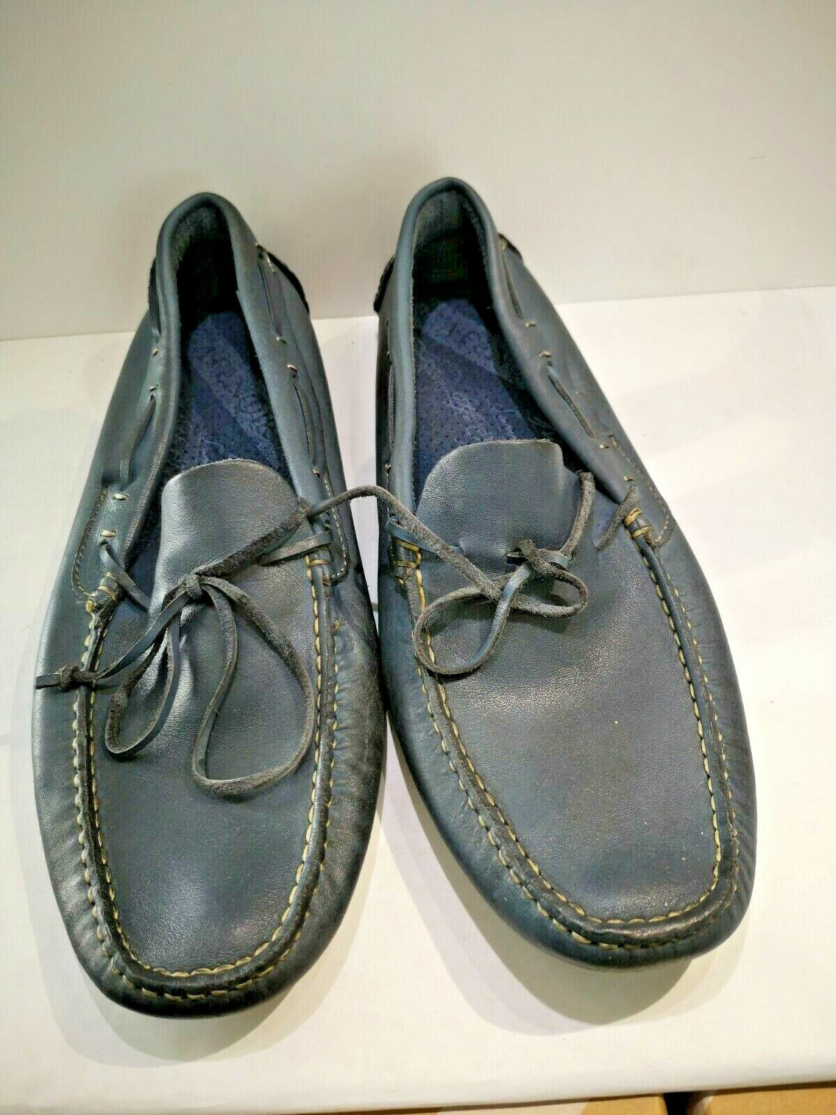 Black Leather Loafers Cafe Navy New Value 99 and number 44