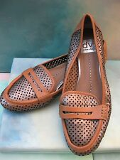 DV X Dolce Vita EDLYN Bronze Laser Cut Loafers Mocs Wms 8M ITALY