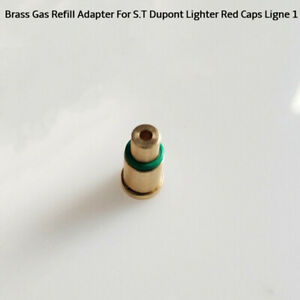 1Pc-Messing-Gas-Befuell-Adapter-fuer-S-T-Dupont-Feuerzeuge-Rot-Caps-Ligne-1-GE