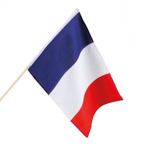Partyartikel Dekoration Karneval Fasching Frankreich Handfahne 30x45cm NEU