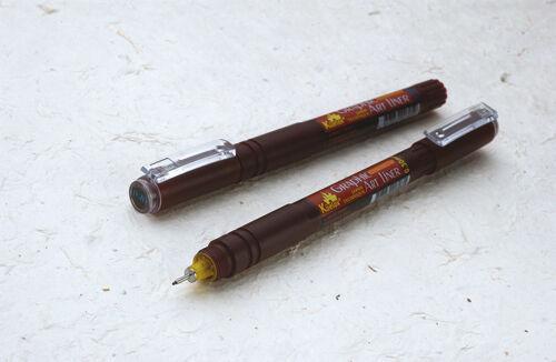Pack 2 Black 0.7mm Technical Drawing Pen Fineliner Water Resistant Artist AL07