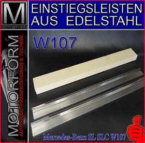 EINSTIEGSLEISTEN EDELSTAHL FÜR  MERCEDES R107 C107 SL SLC