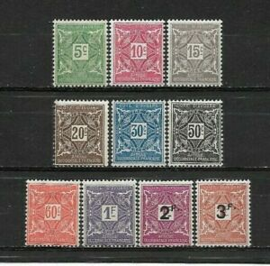 French-Colony-IVORY-Coast-Complete-series-10-new-stamps-Taxes-1915-lt-4400x