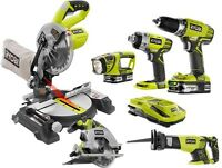 Cordless Power Tool Combo Set 18 V Power One+ Lithium-ion Compact Kit (6-tool)