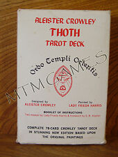 Aleister Crowley Thoth Tarot Deck, OTO, Green edition, OOP, RARE, Very Good