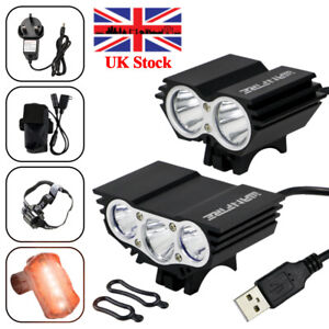 Mountain 15000Lm 3x XM-L T6 LED Cycle Bicycle Light Headlight Bike HeadLamp Lamp