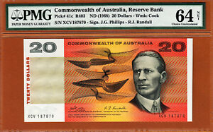 Australia $20 Phillips/Randall 1968 Pick-41c Ch UNC PMG 64