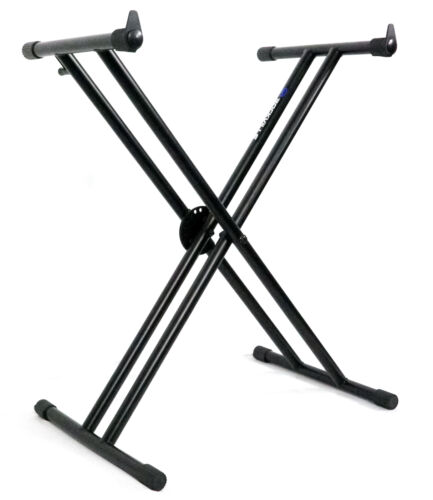 Rockville Double X Braced Keyboard Stand w// Push Button Lock For Casio WK-7600