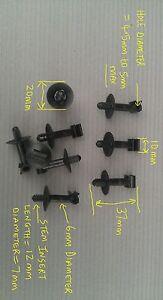 FIX8ii 4.5 à 5mm sapin pivotant tuyau de frein d/'embrayage câble voiture clip garniture x20