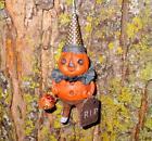 Bethany Lowe Halloween RIP Party Pumpkin Ornament New