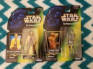 Hasbro Disney Star Wars Luke, Leia, Obi-Wan, Medical Droid Action Figure Lot NIP