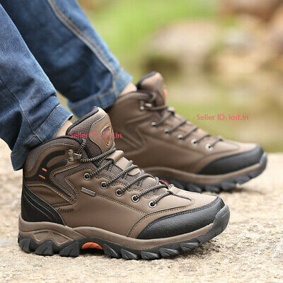 a348eacc66944 Mens Waterproof Hiking Climbing Boots Shoes Non-slip Athletic Trekking  Sneakers