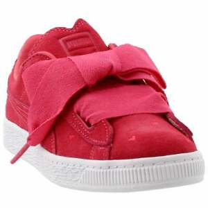 PUMA Girls Suede Heart Valentine Junior Casual Shoes,