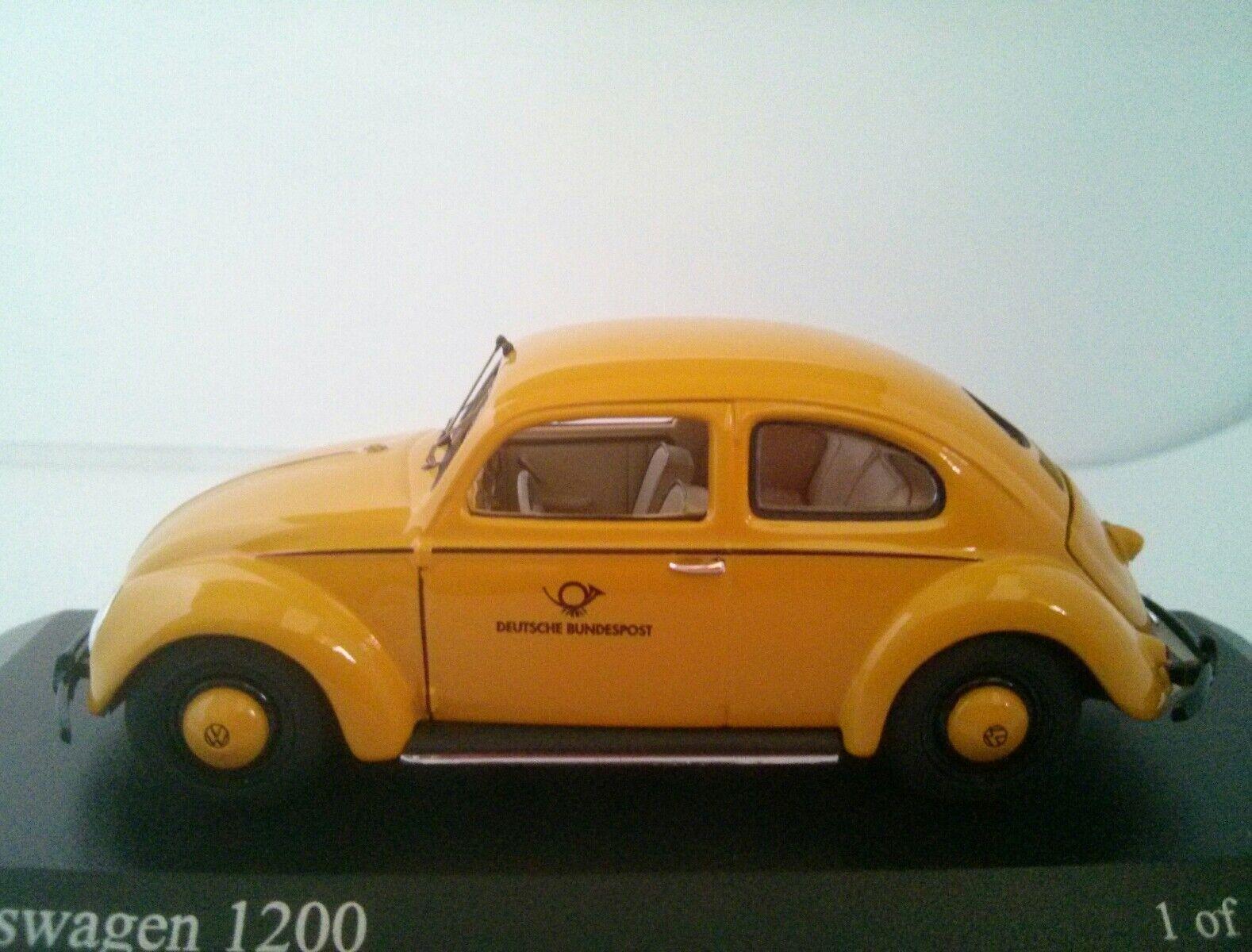 Minichamps 431 051292  1951 VW Beetle 1200 Deutsche Bundespost