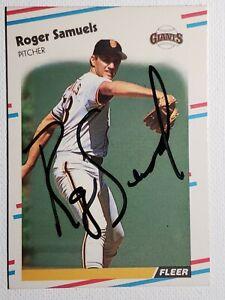 1988-Fleer-Update-Roger-Samuels-Auto-Autograph-Card-Giants-Signed-U-131-Rare